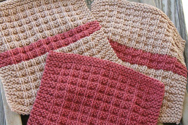 Waffle Knitting Pattern Dishcloth : Waffle Knit Dishcloths Knitting: Free Patterns Pinterest