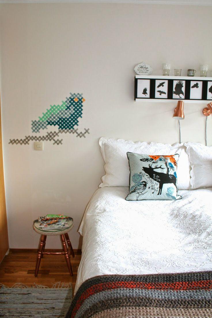 Washi tape wall art diy pinterest for Washi tape wall art