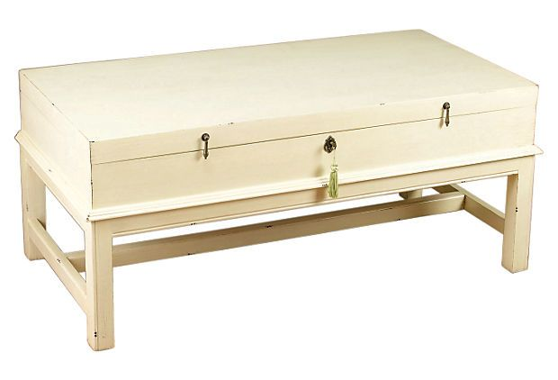 Lisbeth Coffee Table Distressed White