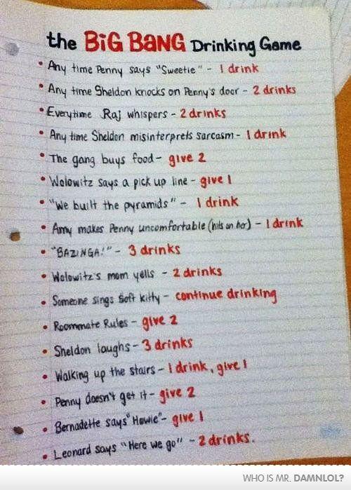 The Big Bang Drinking Game :)