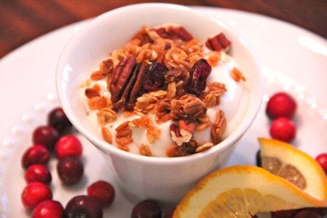 Cranberry Orange Granola w/ Pecans - a great Christmas gift idea (note ...