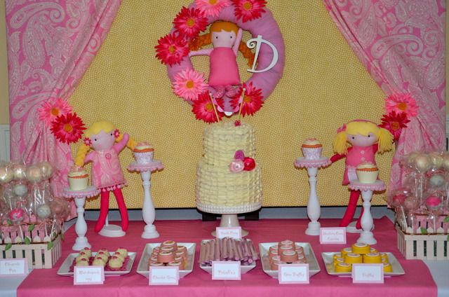 Beautiful dolly dessert table