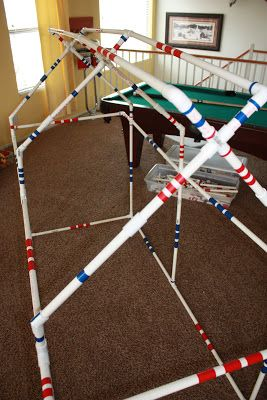 Strong Armor blogger gave PVC pipes cut at different lengths to boys for Christmas.  Hours of building fun and creative mind work!  Would be fun for Cub Scouts.