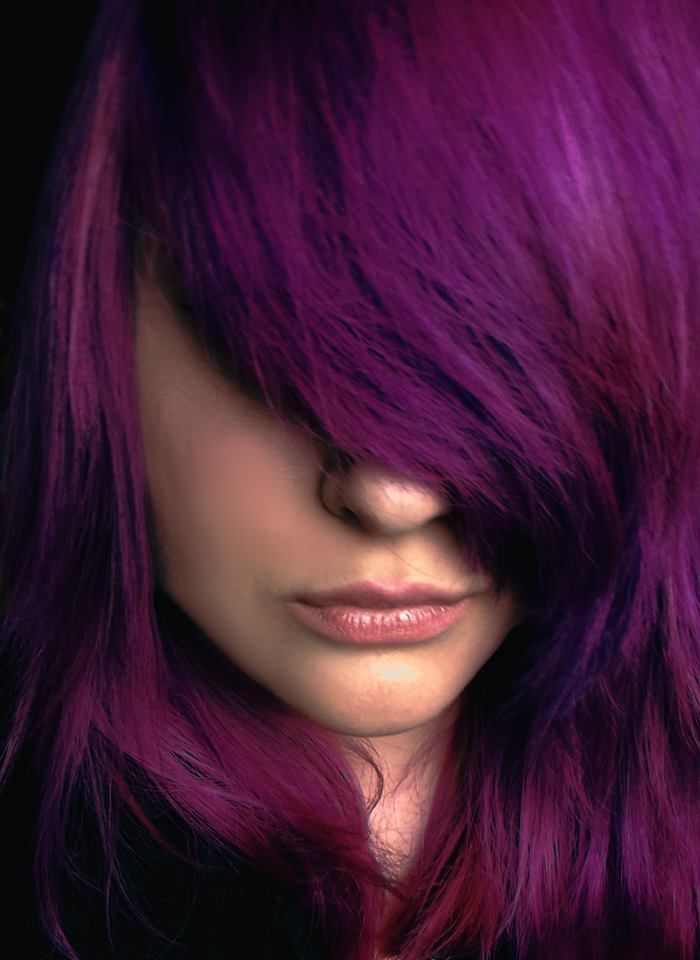 Long bangs with Splat Lusty Lavender hair color | Purple ...