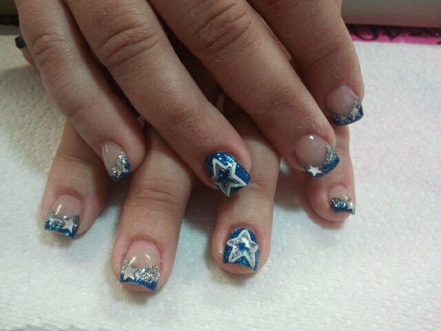 Dallas Cowboys nails | Nail Designs | Pinterest