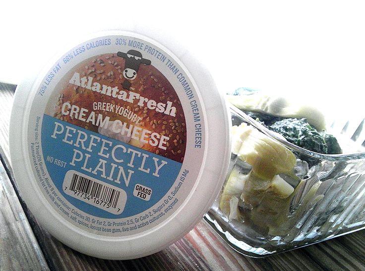 GreekYogurt cream cheese •4 Tbsp butter •2 packages frozen spinach ...