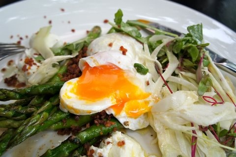 Midnight Asparagus With Creamy Eggs Recipes — Dishmaps