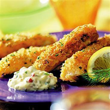 Crispy Oven Fried Fish Fingers #weeknightdinner #kidfriendly
