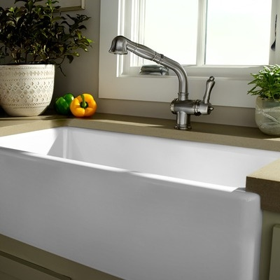 36 White Farmhouse Sink : Porcher London 36