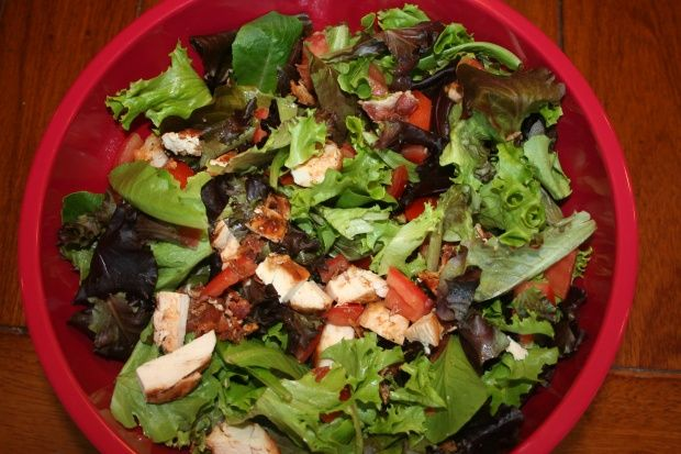 bbq chicken blt salad | Gluten Free Meal Ideas | Pinterest