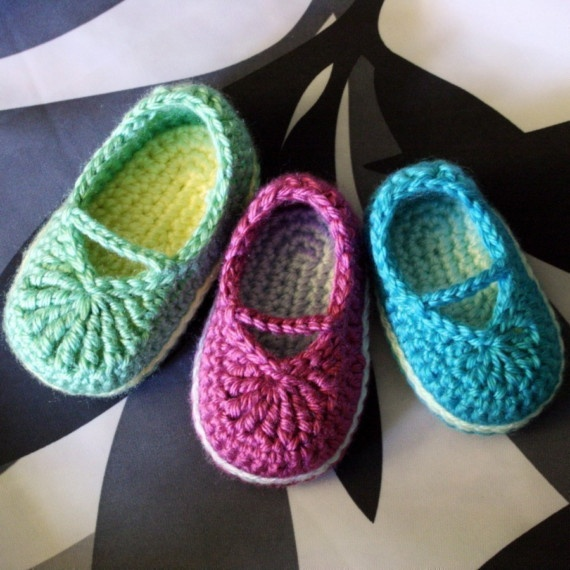 Free Crochet Patterns For Baby Booties Mary Janes : baby mary jane skimmers Crochet patterns I bought on ...