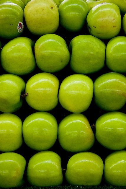 Granny Smith Apples | Green is my fav. Color | Pinterest