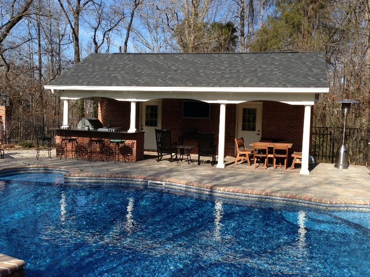Charlotte outdoor kitchen pictures covered patio outdoor for Innovative pool design king s mountain