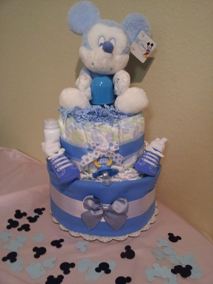 baby shower cakes mickey mouse diaper cake great for baby shower by