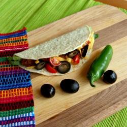 Lentil Tacos with Sliced Olives | Quesadilla/Taco | Pinterest