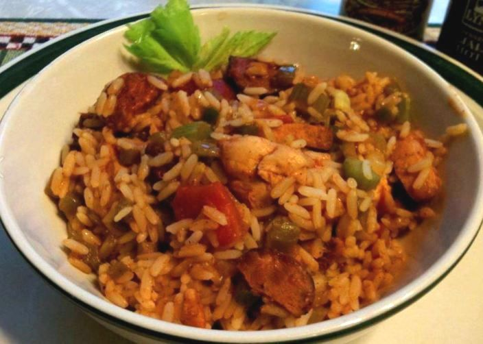 Easy and Dirty Rice with Chicken and Andouille Sausage