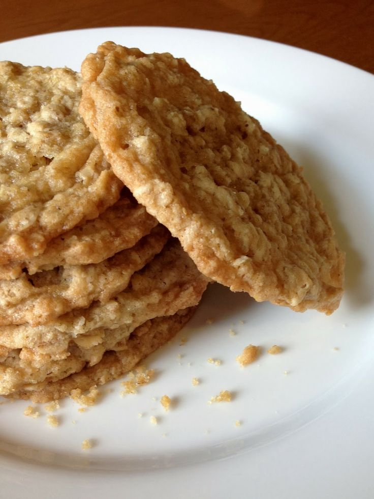 thin and crispy oatmeal cookies | *** Food & Recipes *** | Pinterest