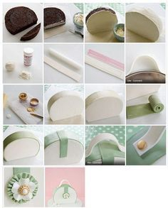 easy purse cake - step by step 3D Cakes / Sculptured ...