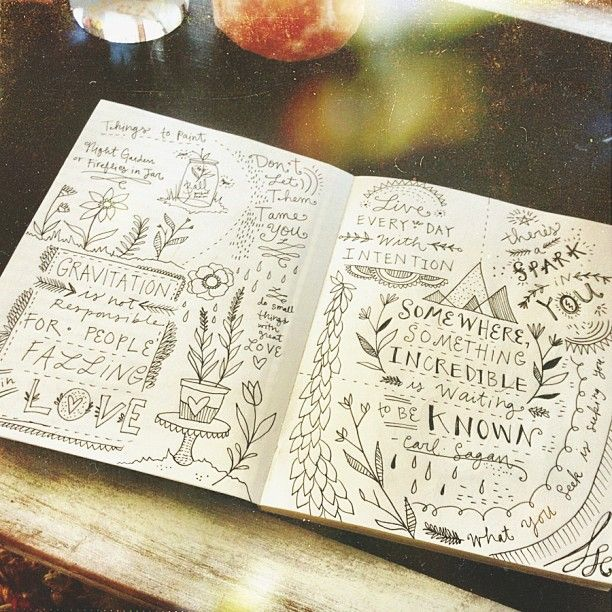 Katie Daisy's sketchbook Instagram...so lovely.