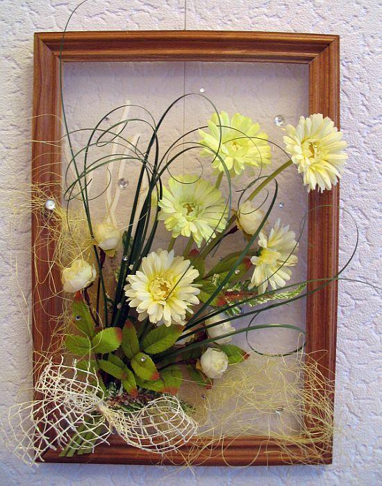 Панно из искусственных цветов на стену своими руками - Pinterest