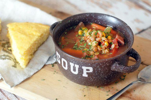 Slow Cooker Ham Soup with Lentils: Leftover Wonder after Easter!