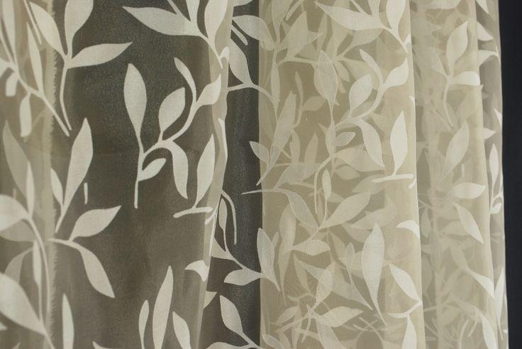 Draperies beige leaf sheer drapery fabric skip natural ebay