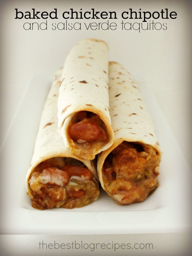 Baked Chicken Chipotle and Salsa Verde Taquitos | The Best Blog ...