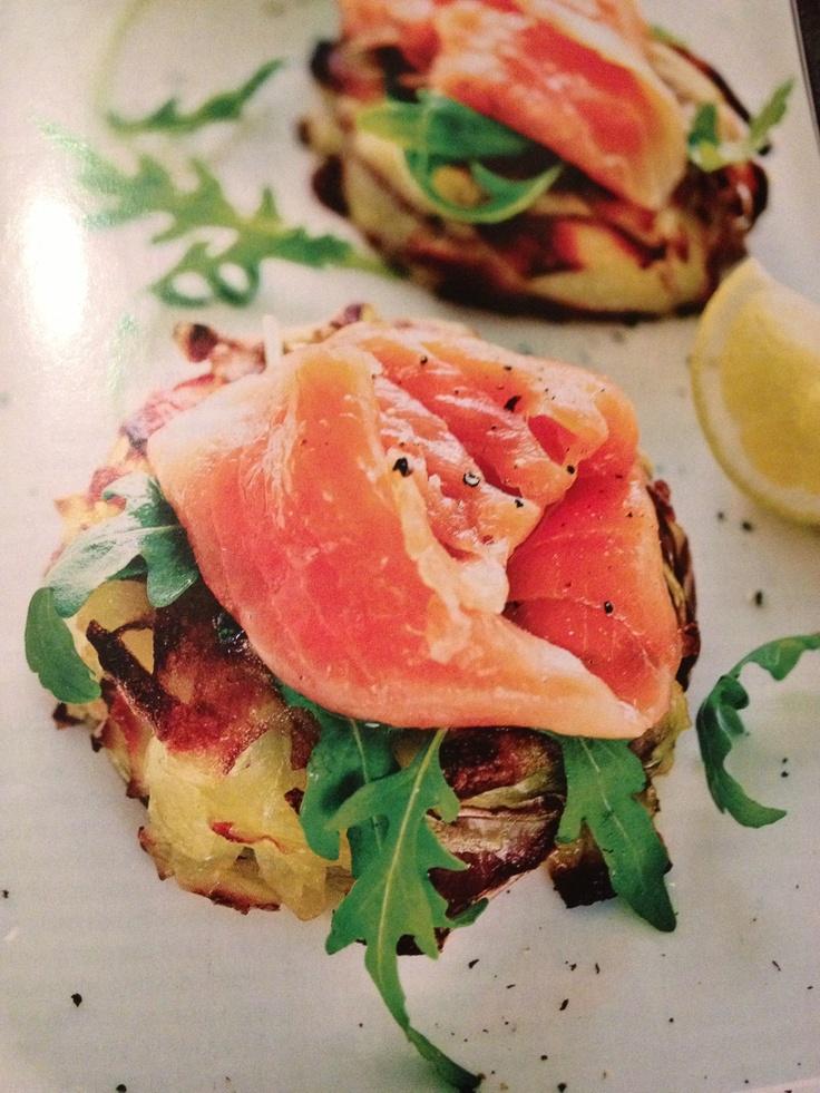 Potato rosti with smoked salmon | Favorite Recipes | Pinterest