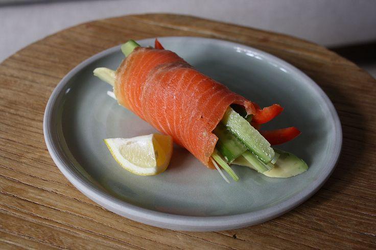 smoked salmon roll | Food | Pinterest
