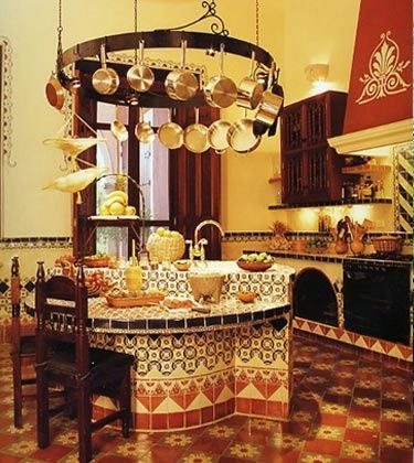 Mexican Style Kitchen Country Living Homes Pinterest