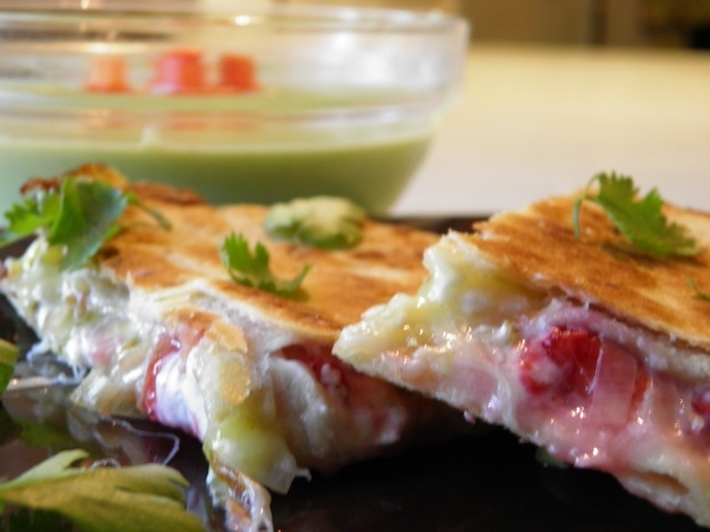 Strawberry and Leek quesadillas! | Main Meatless Meals | Pinterest