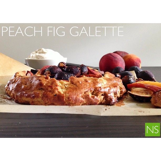 Peach Fig Galette with Coconut Whipped Cream!