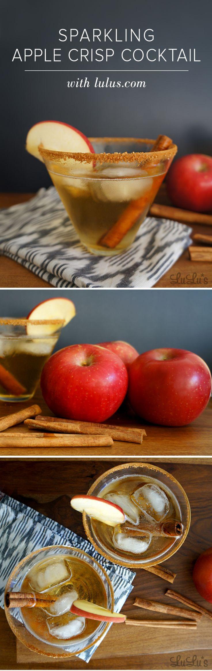Sparkling Apple Crisp Cocktail