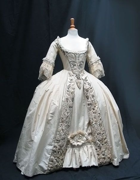 1700s wedding gown dresses 1700s pinterest
