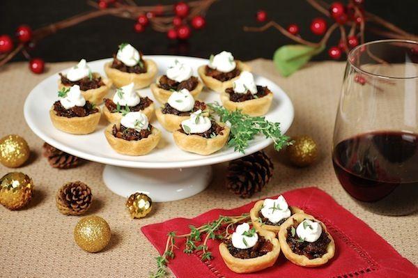 Savory bite-sized #holiday appetizer recipes: Mini bacon-onion bites ...