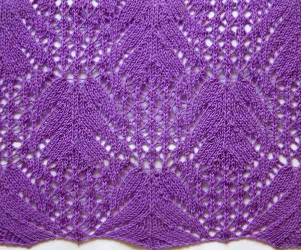 Образец вязания ажурный спицами