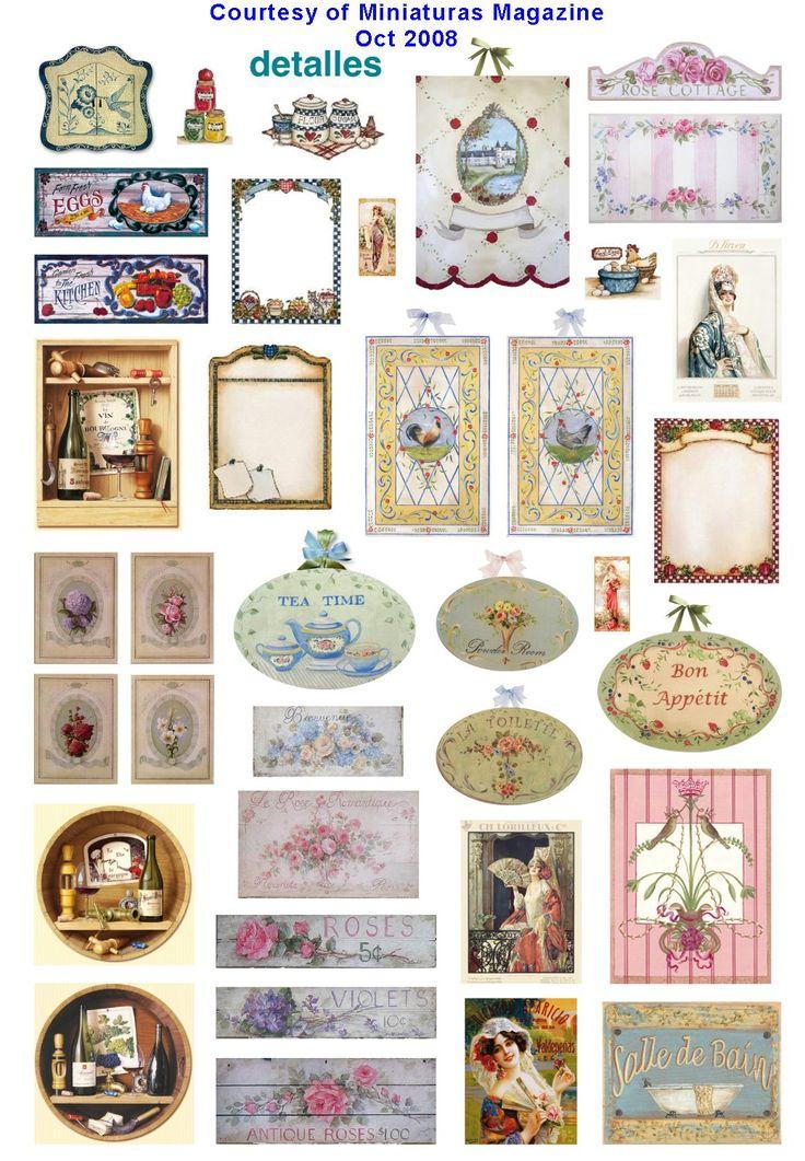 Dollhouse printables from Miniaturas magazine http://www.cdhm.org ...