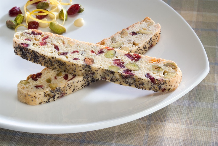 Lemon Drop Biscotti . Lemon, pistachio, cranberry, white chocolate ...