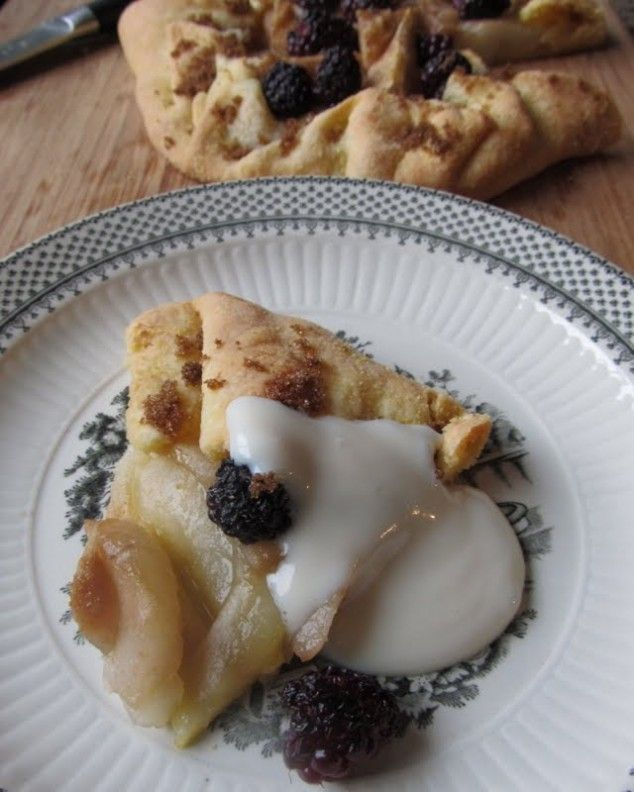 Pear Galette with a sprinkle of Blackberries