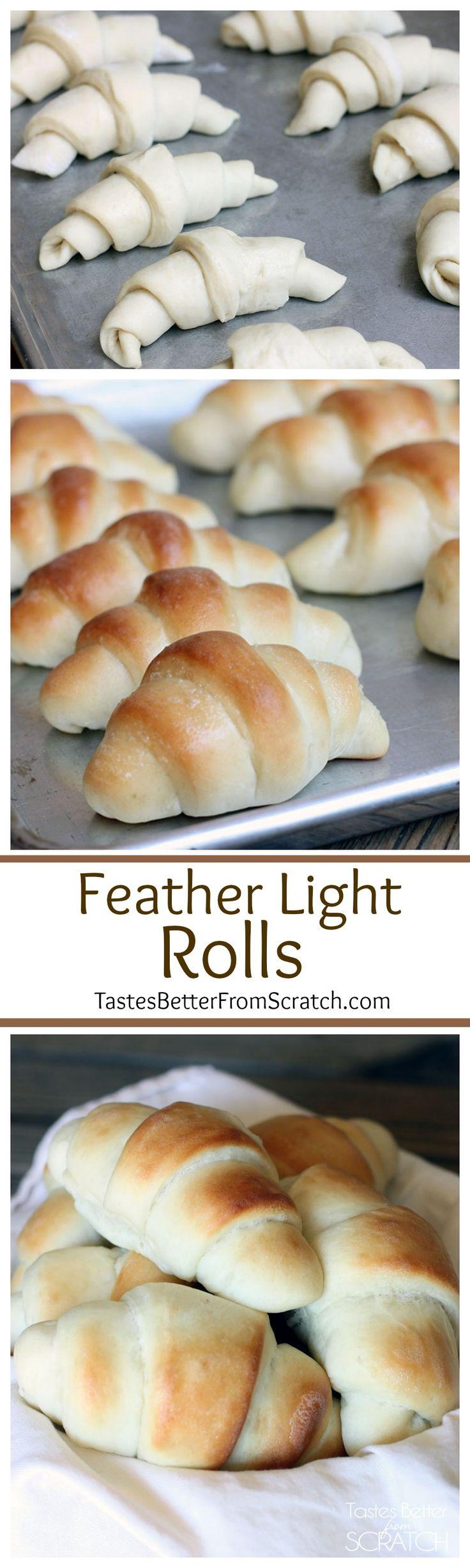 Feather Light Rolls | Recipe