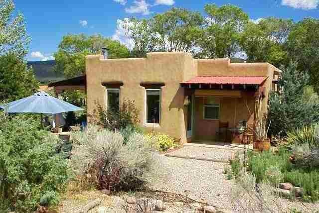 Taos House With Gardens And Studio Adobe Style Homes