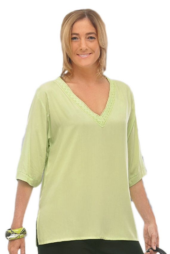 s plus size clothing tunic top w neckline details