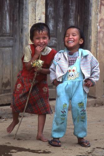 """""""Happiness Is... watching children laugh"""" -- Ken Benjamin"""