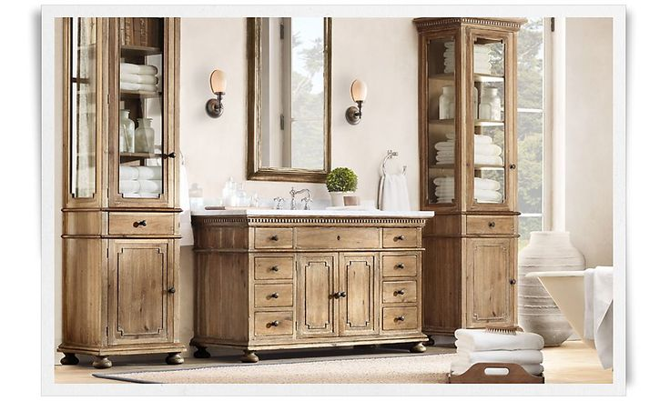 bath cabinets faucet wall lights diff style rooms restoration