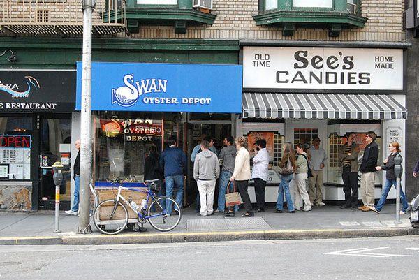 outside swan oyster depot san francisco san francisco pinterest. Black Bedroom Furniture Sets. Home Design Ideas
