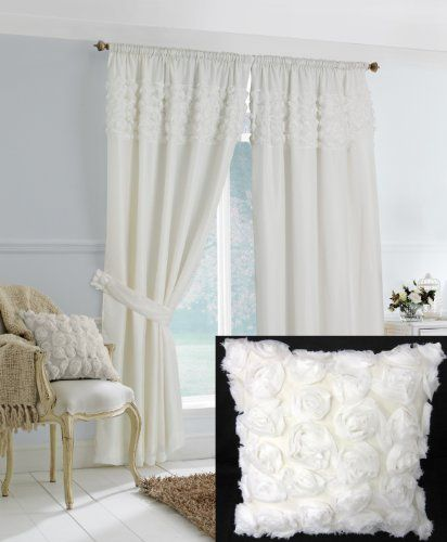 white ruffle bedroom curtains for one of my bedrooms