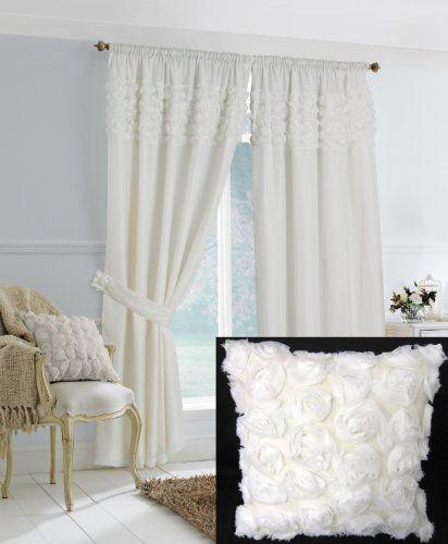 White Ruffle Bedroom Curtains Drapery Ideas Pinterest