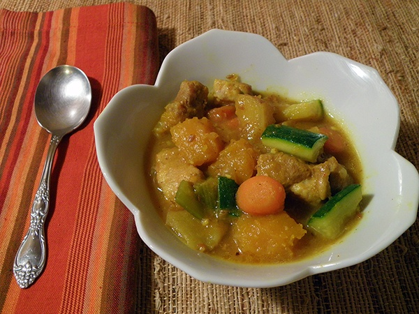 Curried pork and pumpkin stew- ate something like this in SF and ...