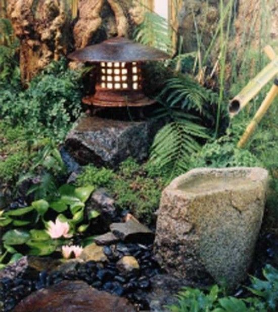 Japanese water garden designs garden Pinterest