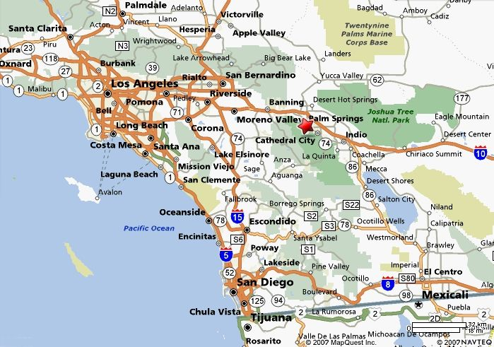 Palm Springs California Map | States Maps on